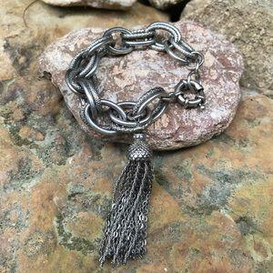 Banana Republic double chain bracelet with tassel